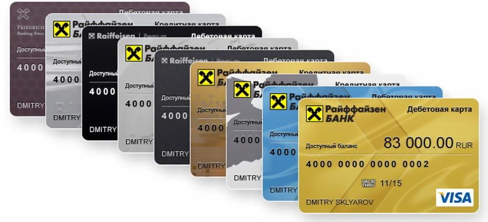 Оформить онлайн кредитную карту Райффайзен банка